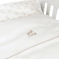 thumb-Safari donsovertrek bed 100x135cm  + sloop - wit linnen-2