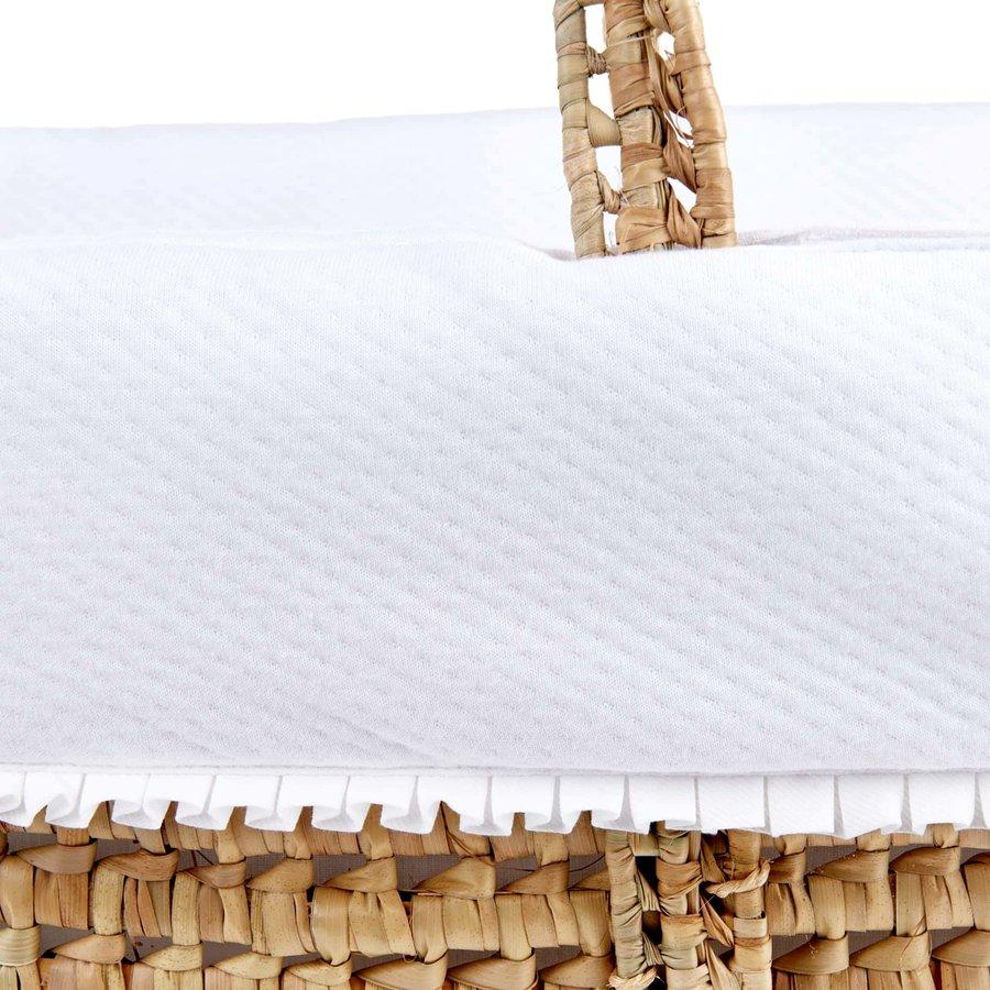 Rieten reiswieg + aankleding - wit-3