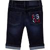 Hugo Boss jeans stretch met logo borduring - blauw