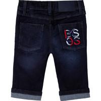 thumb-jeans stretch met logo borduring - blauw-1