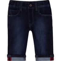 thumb-jeans stretch met logo borduring - blauw-2