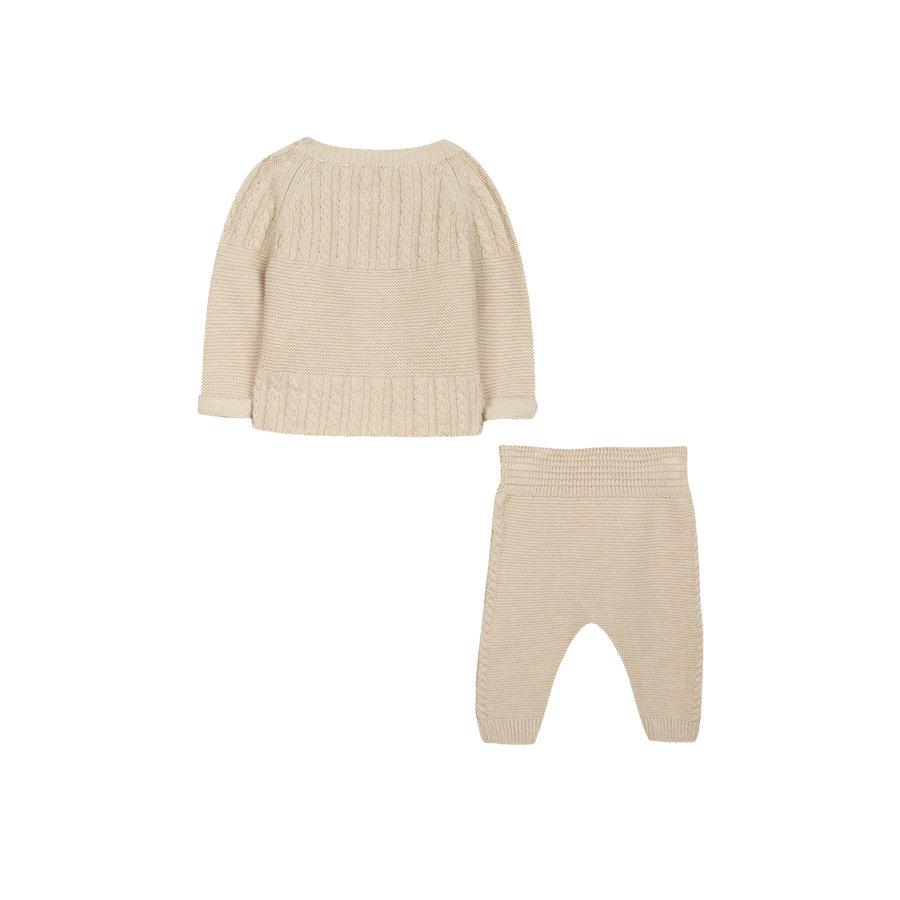 cashmere set van top en broek - beige-2