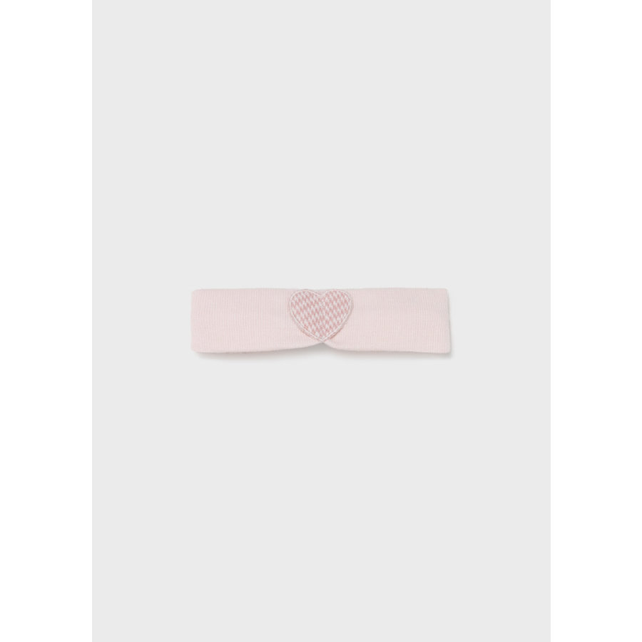 gebreid jurkje met haarband - roze-3