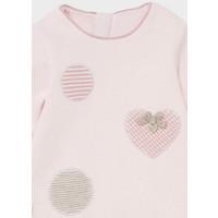thumb-gebreid jurkje met haarband - roze-4