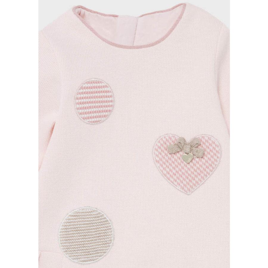 gebreid jurkje met haarband - roze-4