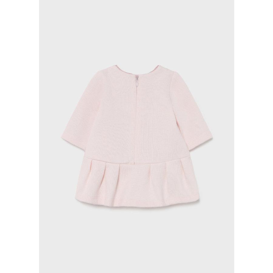 gebreid jurkje met haarband - roze-2