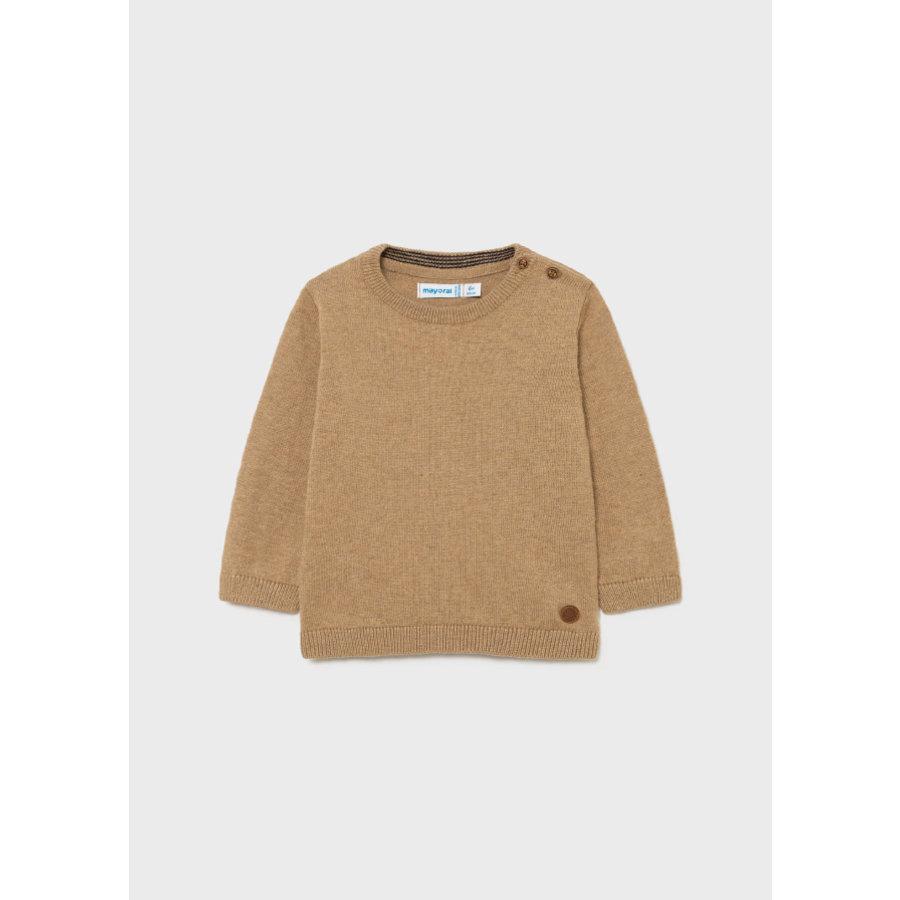 zachte trui met knopen - beige-1