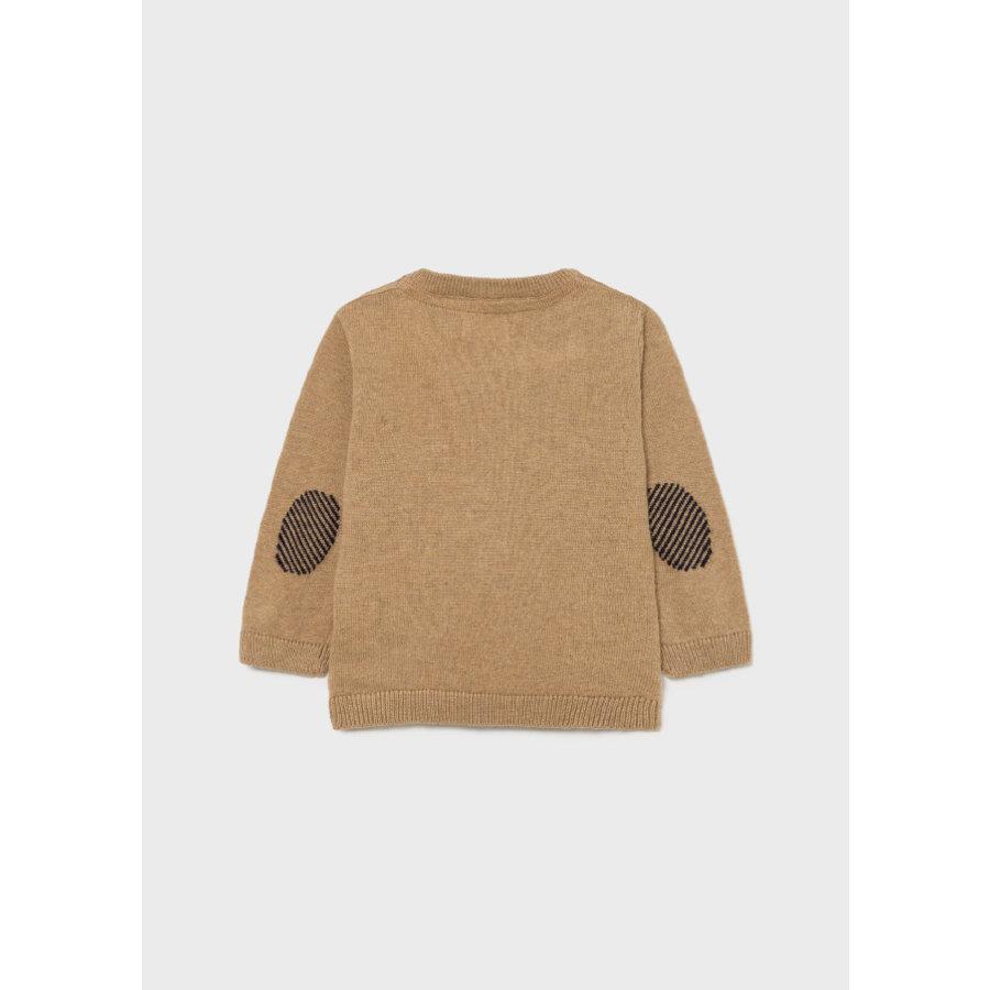 zachte trui met knopen - beige-2