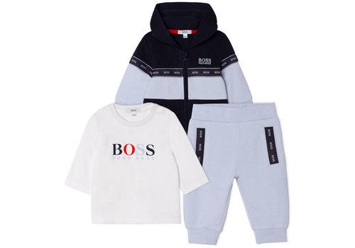 Hugo Boss set van vest, t-shirt en broekje - lichtblauw