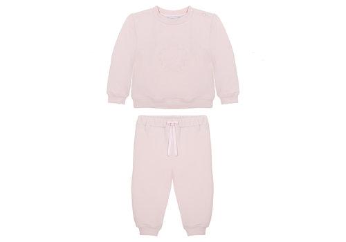Patachou sweater en broek met borduur - roze