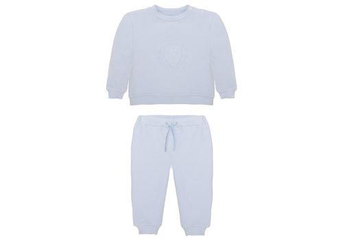 Patachou sweater en broek met borduur - lichtblauw