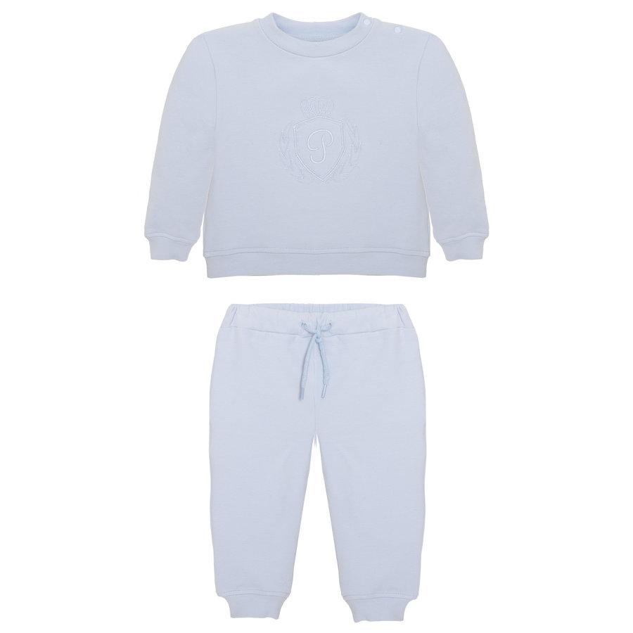 sweater en broek met borduur - lichtblauw-1
