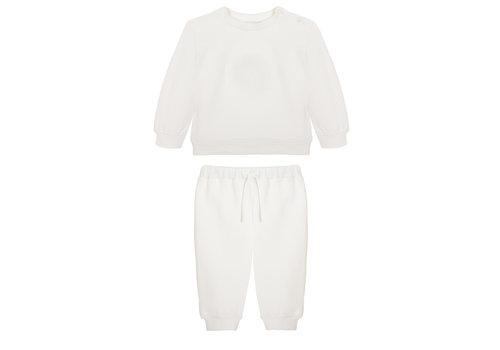 Patachou sweater en broek met borduur - offwhite
