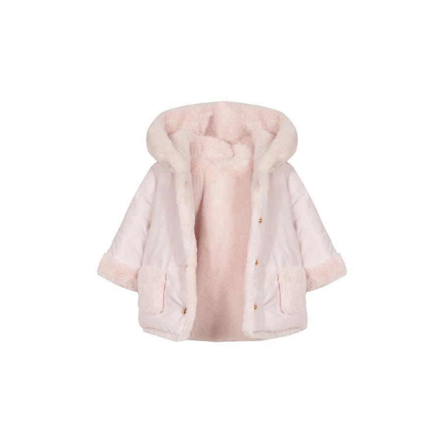 babyjasje omkeerbaar met zachte voering - roze-4