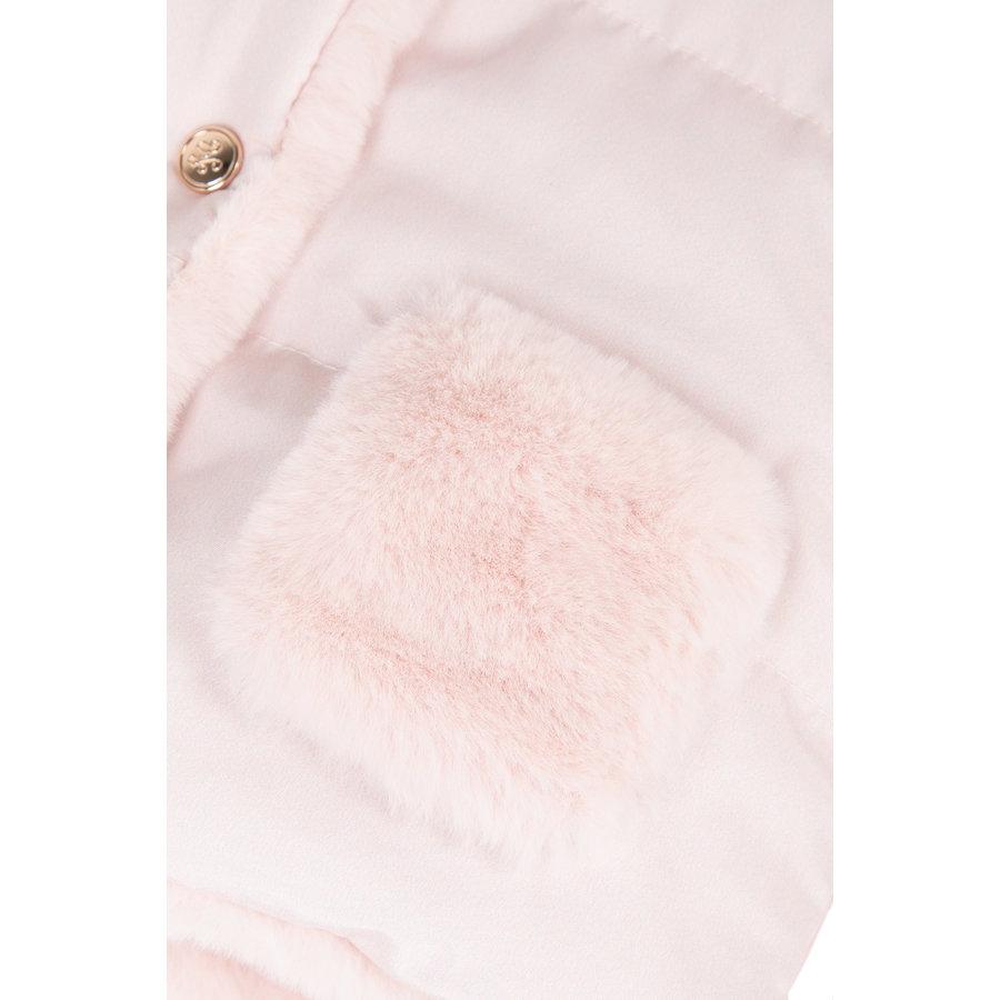 babyjasje omkeerbaar met zachte voering - roze-5