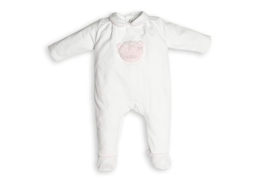 First - My First Collection boxpakje met eco-bont beertje - wit/roze