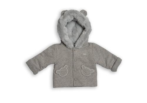 First - My First Collection zacht vestje met eco bont - grijs
