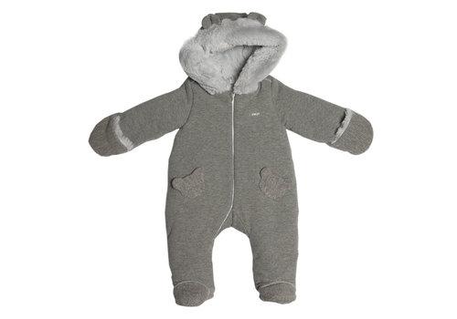 First - My First Collection zacht babypak met eco bont voering - grijs