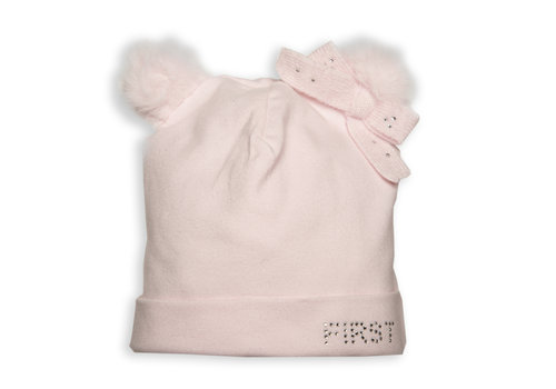 First - My First Collection babymutsje teddy - roze
