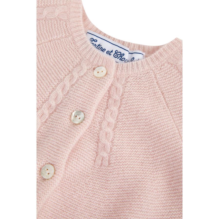 zacht cashmere vestje - roze-2