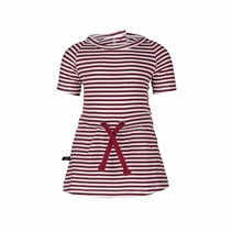 Jurk Pien stripe red