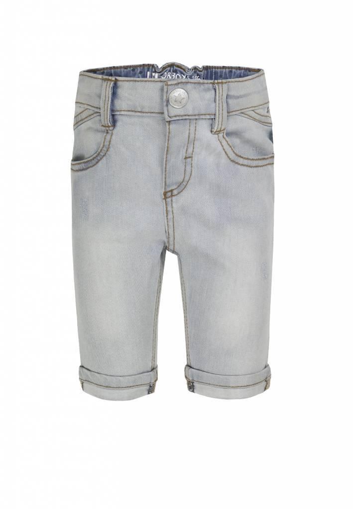 Lief! Lifestyle Lief! korte spijkerbroek licht blauw