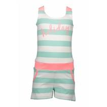 Jumpsuit mint stripe