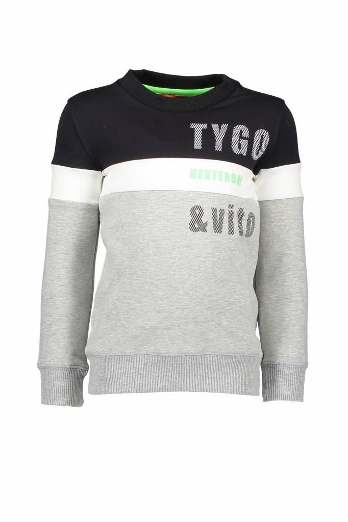 TYGO&vito TYGO&vito trui roma cut&sewn nexterday black