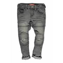 Skinny spijkerbroek dbl kneepatches m. grey denim