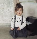 Koko Noko Koko Noko baby rokje met bretels dark grey melange
