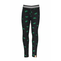 Legging with offline ao print black metallic green