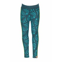 Legging ao printed with contrast piping turtle melee/ aqua sky