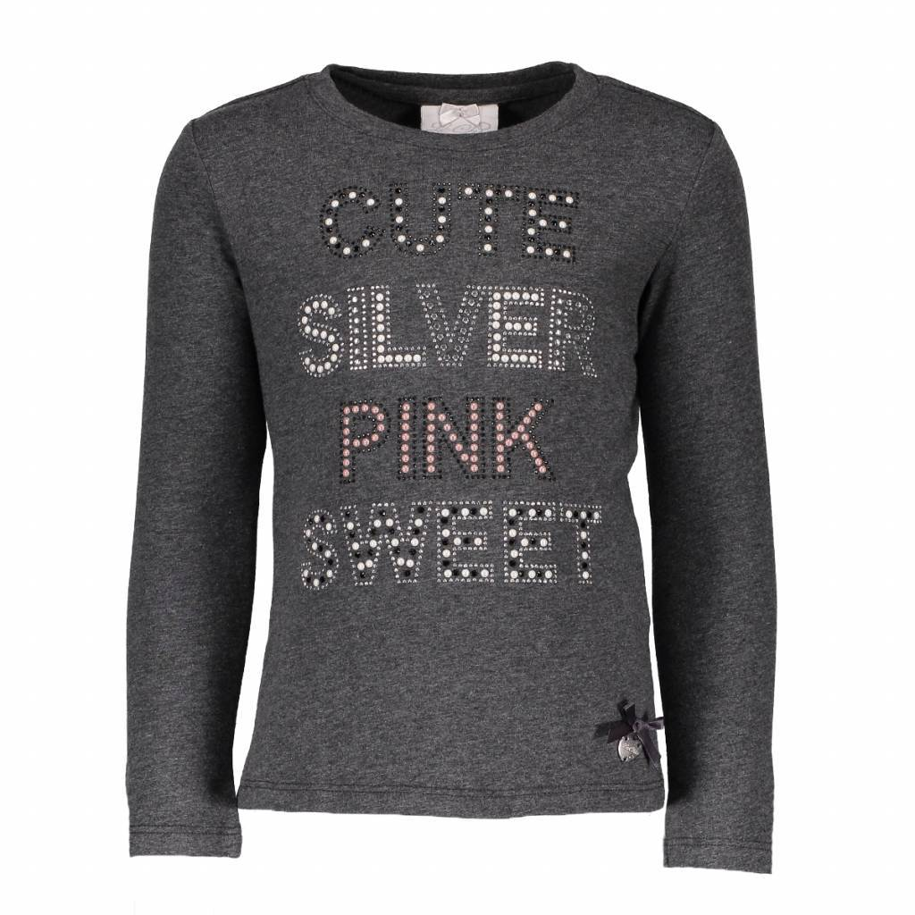Le Chic Le Chic longsleeve cute silver pink anthracite melange