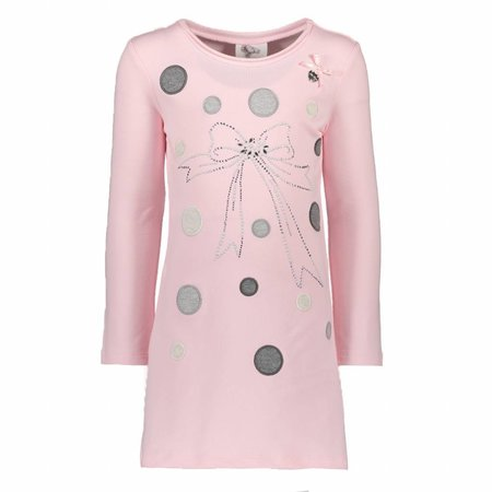 Le Chic Le Chic jurkje dots & bow tunic pink crystal