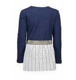Bampidano Bampidano jurk jersey top + double fabric skirt part navy