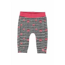 Broekje stripe & hearts grey melee