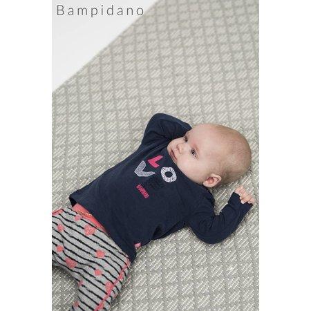 Bampidano Bampidano broekje stripe & hearts grey melee