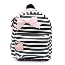 Rugzak (s) stripes black/ pink