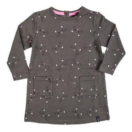 Beebielove Beebielove jurk sweat dress grn