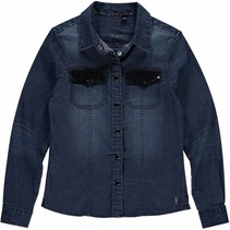 Blouse Addie night blue denim