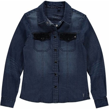 Levv Levv blouse Addie night blue denim