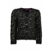 Vest panther knit black/ croco