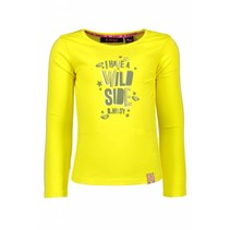 Longsleeve with contrast lurex tape canary