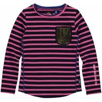 Longsleeve Loeka dark blue stripe
