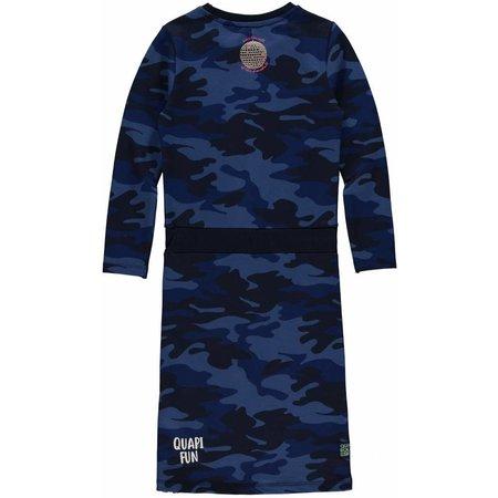 Quapi Quapi jurk Lizet dark blue camouflage