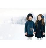Le Chic Le Chic jurk heart shaped bag blue navy