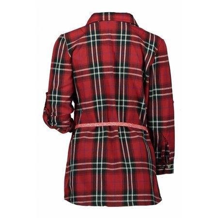 Bampidano Bampidano jurk flanel woven red check
