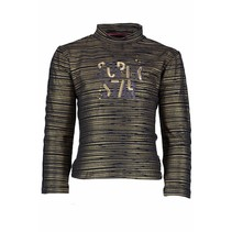 Longsleeve with ao poil print peacock bronze