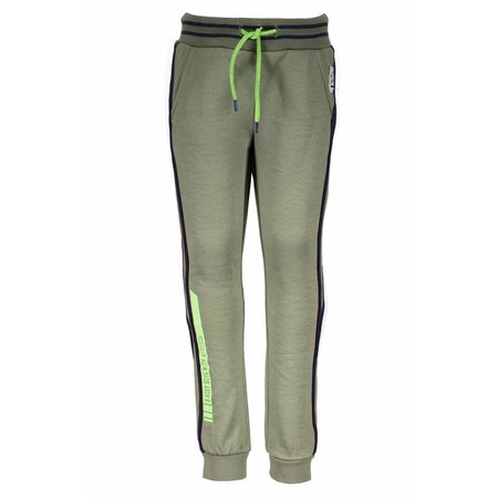 B.Nosy B.Nosy broek with piping on the side fern green