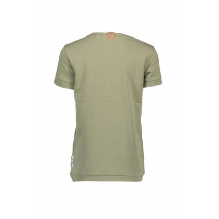 B.Nosy B.Nosy T-shirt basic with multi color print fern green